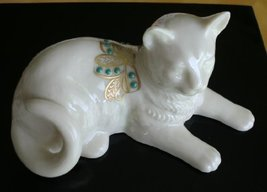Lenox China Jewels Collection Reclining Cat 1992 [Kitchen] - $39.68