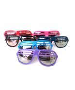 Shutter Slotted Sunglasses Assorted Colors Half Slot Frame and Mirrored ... - $5.39+