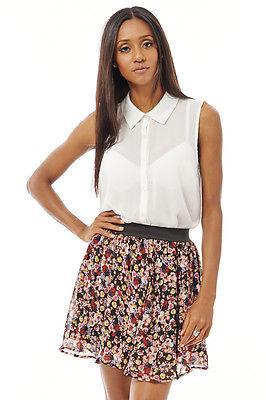 Chiffon Print Floral Skirt