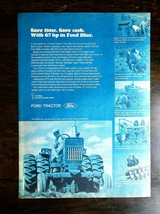 Vintage 1969 Ford 5000 67hp Blue Farm Tractor Full Page Original Ad - $6.64