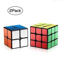 2pcs Speed Cube Set 2x2 3x3 Smooth Brain Training Rubiks Puzzle for Begi... - $11.05