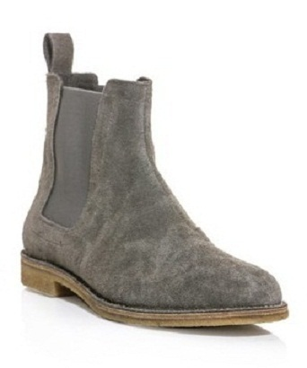 new handmade mens gray chelsea suede leather boots men suede leather boot boots. Black Bedroom Furniture Sets. Home Design Ideas