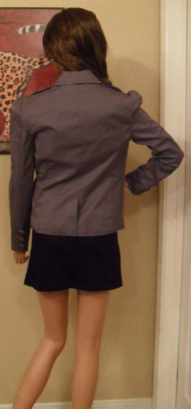 NWT JUICY COUTURE Elliot Gray Chino Blazer Small NEW (MAKE AN OFFER)