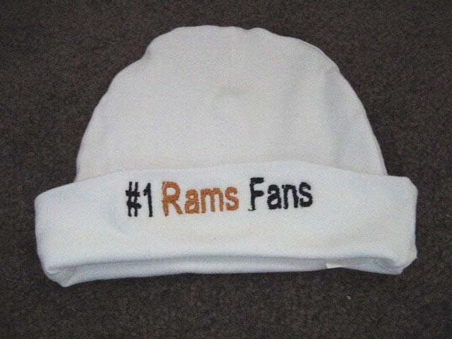 St. Louis Rams NFL Football Baby Infant Newborn Onesie Creeper Hat Beanie Set