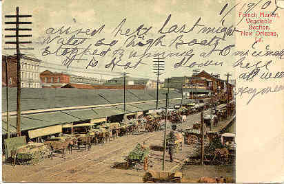 New Orleans The French Market vintage Post Card