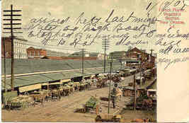 New Orleans The French Market vintage Post Card - $5.00