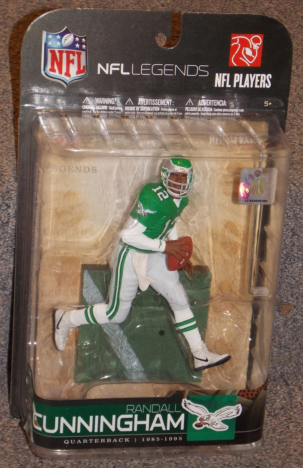 Primary image for 2009 NFL Legends Philadelphia Eagles Randall Cunningham Figure New In Package