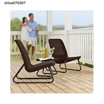 Patio Set 3-Piece Keter Furniture Tables and Chairs Rattan Garden Decking - $178.23