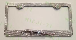 Jaguar W 3D Logo Bling License Plate Frame Holder Made W Swarovski Crystals - $95.99
