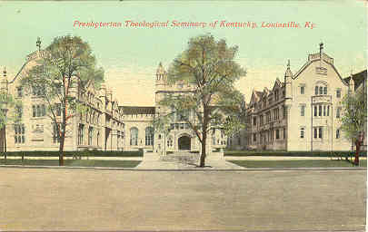 Primary image for Theology Seminary at Louisville vintage Post Card