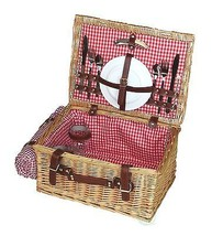 Vintiquewise Picnic Suitcase Basket with Accessories - Servings for 2, Q... - $69.99