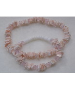 Shell Beaded Stretch Bracelet with Anklet Pink - $7.00