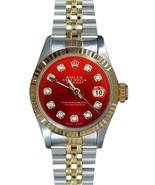 Datejust lady watch Rolex red diamond dial brac... - $2,912.73
