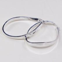 "2"", Vintage Sterling Silver Handmade Earrings, Lightweight 925 Silver Hu... - $33.54"
