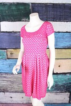 Betsey Johnson Pink Eyelet Lace Illusion Neckline Fit & Flare Dress SIZE 2 - $580,95 MXN