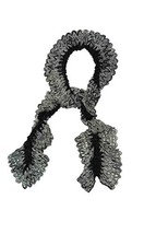 Charter Club Women's Knit Chenille Ruffle Scarf, Black [Apparel] - ₨1,031.37 INR