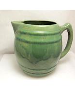 Mccoy heavy green pottery pitcher 1 thumbtall