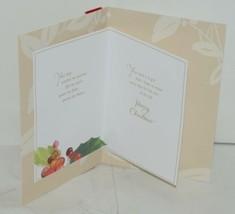 Hallmark XZH 555 1 Holly Bush Velvet Like Ribbon Christmas Card Package 2 image 2
