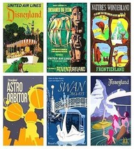6 Vintage Disneyland Magnets (set a) - $18.98