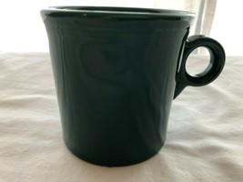 Dark Green Juniper Fiesta Coffee Mug in Mint Condition - $15.99