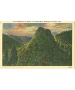 Chimney top at Sunset, The Great Smoky Mountains, National Park, unused ... - $4.99