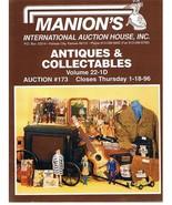 MANION'S ANTIQUES-COLLECTABLES Auction Catalog-Jan-1996 - $9.99