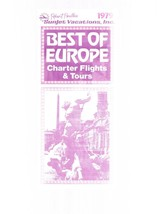 Vintage Perillo's Sunjet Vacations 1979 Best Of Europe Flights & Tours -... - $9.99