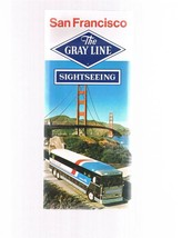 Vintage Gray Line San Francisco Sightseeing fold-out brochure 9-1-79- Ca... - $9.99