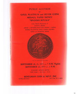 SCHULMAN Coin Catalog September 20-1973 NY-Gold-Platinum-Silver-Spanish ... - $24.99