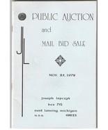 Joseph Lepczyk Public Auction Catalog November 25th1978 -Gold-Coins-Anci... - $14.99