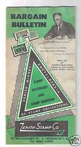 BARGAIN BULLETIN - Zenith Stamp Company 1954 - Catalog - Booklet - $9.99
