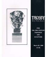 TROSBY Auction Galleries-March 22 1980 catalog 19th-20th Century Paintin... - $9.99