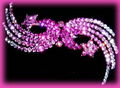 Hair Barrette Shooting Stars  Pink Swarovski Crystals Exquisite Party Hair Decor Bonanza
