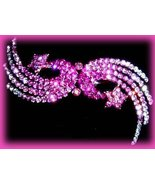 Hair Barrette Shooting Stars  Pink Swarovski Crystals Exquisite Party Ha... - $24.99