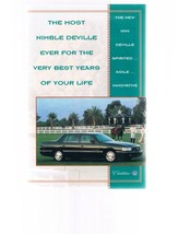 Cadillac 1999 DEVILLE Fold-Out Brochure - $19.99
