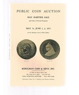 SCHULMAN Coin Auction Catalog 31 May 1972 Rarities - $24.99