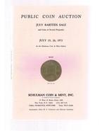 SCHULMAN Coin Auction Catalog 25 July 1972 Rarities - $24.99