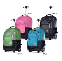 School Rolling Backpack 19 Inch Bookbag Wheeled Travel Carry Book Luggag... - $83.99