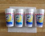 Vintage Blockbuster Plastic Drink Cups-Make It A Blockbuster Night Logo-set of 4