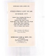 SCHULMAN Coin Catalog Summer 1975 Fixed Price List # 6-Ancient Medieval-... - $24.99