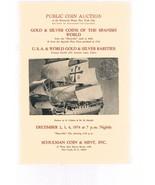 SCHULMAN Coin Auction Catalog December 1974 -Gold-Silver-Maravilla 1656-... - $75.00