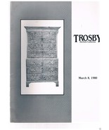 TROSBY Auction Galleries-March 8 1980 catalog English-French Furniture-A... - $9.99