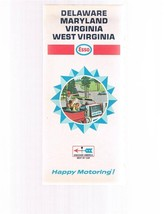 Vintage ESSO Oil Delaware Maryland Virginia West Virginia Fold-out Road ... - $9.99