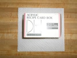Viintage - Acrylic Recipe Card Box by D H Desig... - $9.99
