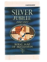 SILVER JUBILEE 1952-1977 Royal Map Of Succession - Queen Elizabeth II - £7.10 GBP