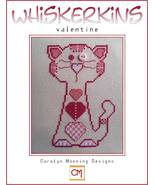 CLEARANCE Valentine Whiskerins cat cross stitch chart CM Designs - $5.50