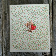 Vintage Hallmark Stationery Mouse with Strawberry Writing Paper Envelope... - $56.42