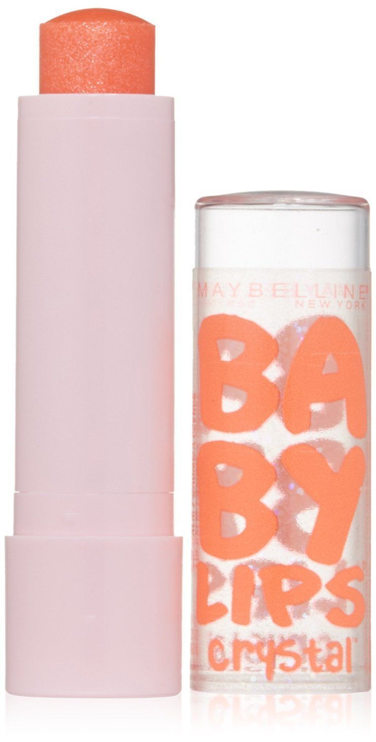 Baby Lips GLEAMING CORAL No 135 Crystal Collection 8 HR Moisture Balm Maybelline