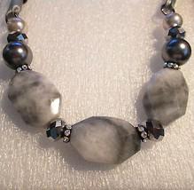 Alfani Marble Stone Faux Pearl Rhinestone Satin Necklace  - $18.54