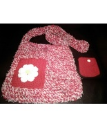 Handmade Crochet purse thick high quality materials with change purse  - $32.88